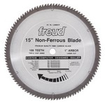 "[FREUD LU89M015] 15"" Diameter X 108T TCG Thick Non-Ferrous Metal Carbide-Tipped Saw Blade With 1"" Arbor (.142 Kerf)"