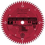 "[FREUD LU96R008] 8"" Diameter X 64T Coated Thin Kerf Carbide-Tipped Double Sided Laminate Saw Blade With 5/8"" Arbor (.083 Kerf)"