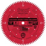 "[FREUD LU96R010] 10"" Diameter X 80T Coated Thin Kerf Carbide-Tipped Double Sided Laminate Saw Blade With 5/8"" Arbor (.071 Kerf)"