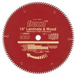 "[FREUD LU98R014] 14"" Diameter X 108T TCG Single Sided Laminate/Melamine Carbide-Tipped Saw Blade With 1"" Arbor (.138 Kerf)"
