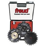 "[FREUD SD608]  8"" Diameter X 24T Dial-A-Width Dado Carbide-Tipped Saw Blade Set With 5/8"" Arbor"